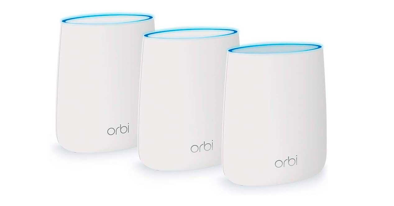 módem y router  y Repetidores Wi-Fi Orbi