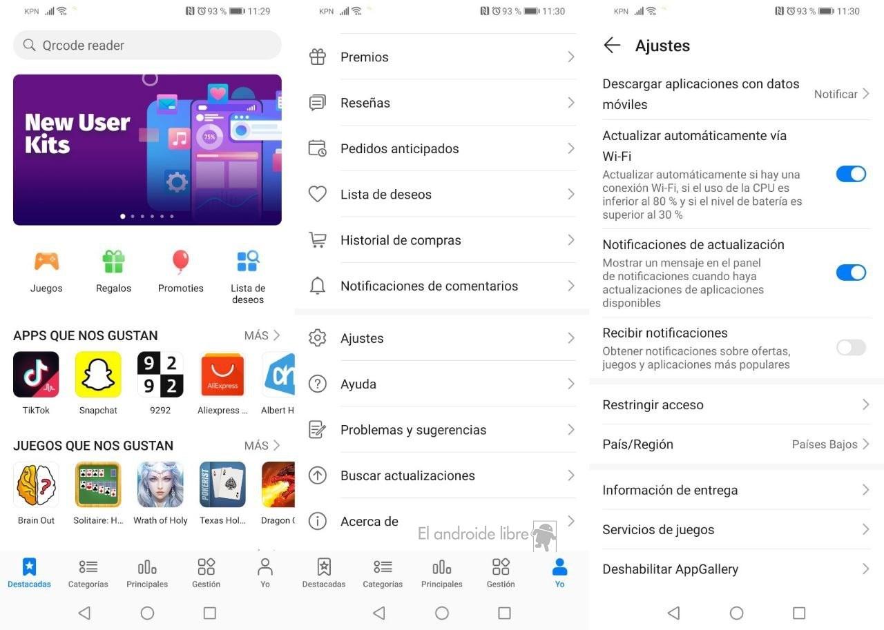 Trucos para usar mejor la tienda AppGallery de Huawei