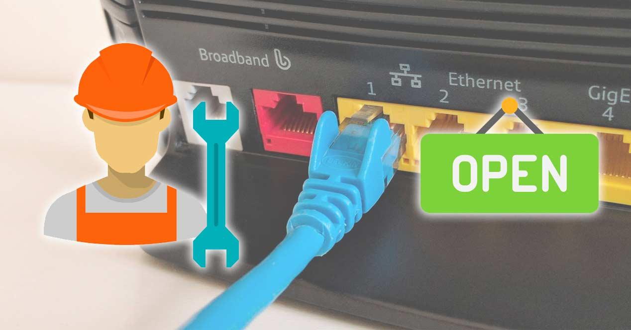 abrir puertos router
