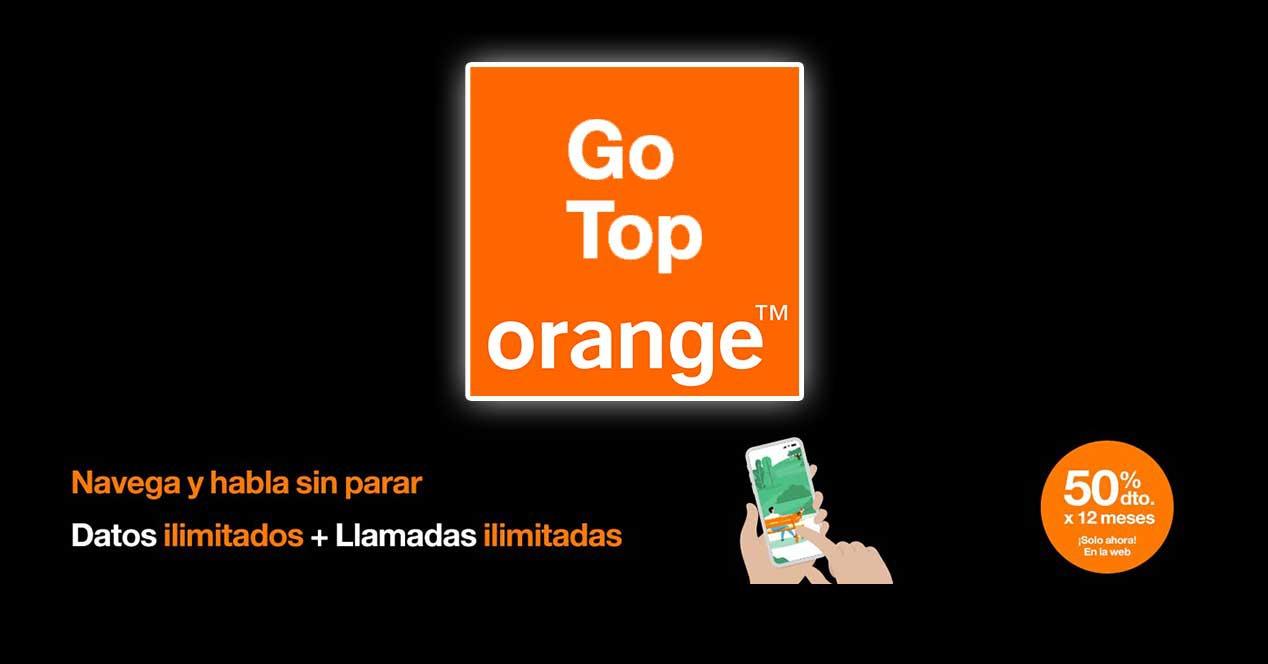 orange go top descuento 12 meses