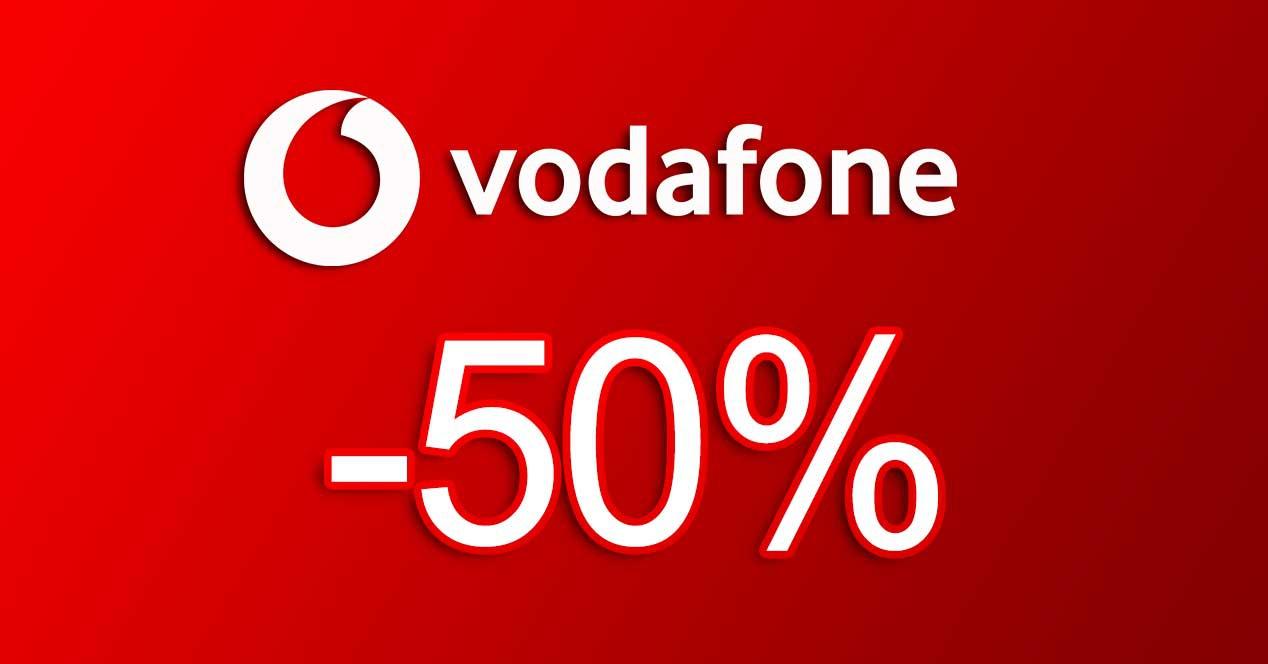 vodafone 50% descuento