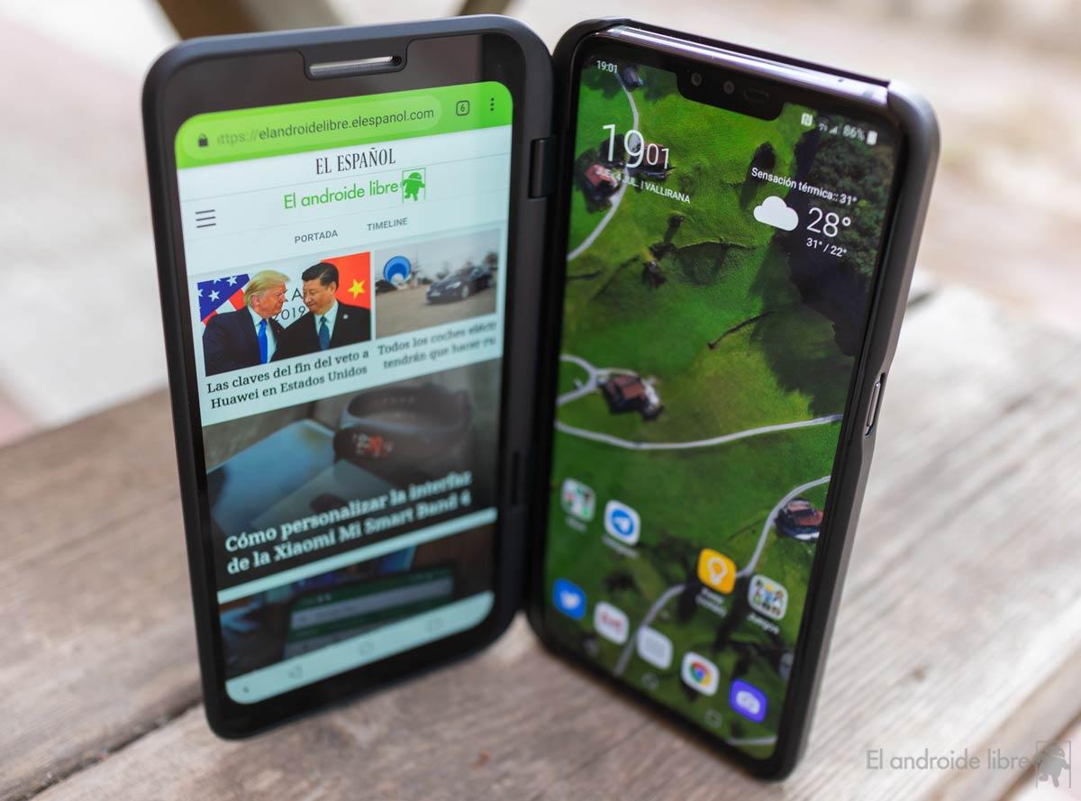 A medio camino de un móvil plegable: así es la doble pantalla del LG V50