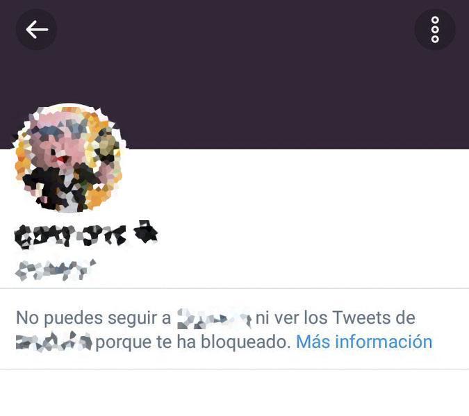 usuario bloqueado en twitter